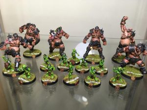 Equipo de Ogros de Blood Bowl, marca Hungry troll