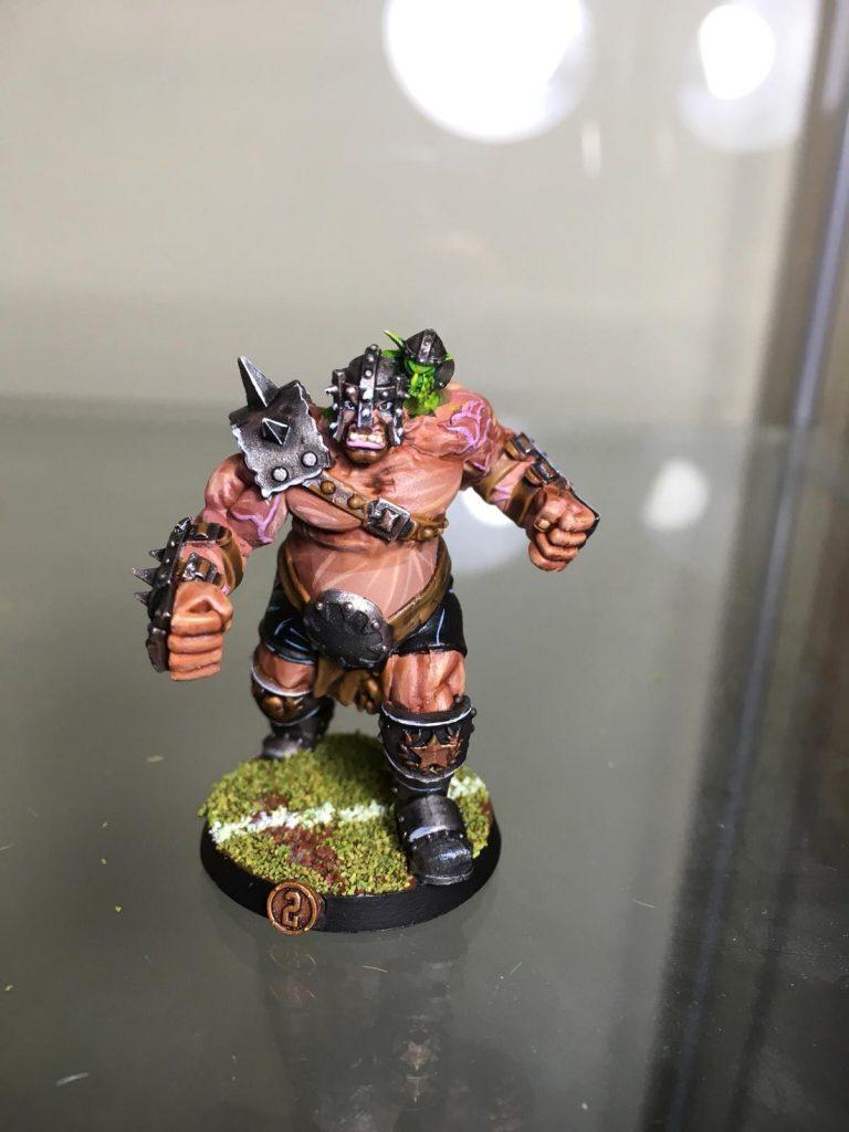 Equipo de Ogros de Blood Bowl, marca Hungry troll (detalle 6)